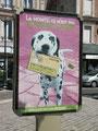Campagne contre les déjections canines - affiche mupi decaux