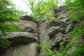 Block-and-ash-flow-Ablagerungen des extrusiven Rhyolith-Doms des Donnersbergs, Falkensteiner Tal (Foto: S. Funk)