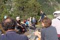 Geologische Exkursion im Rahmen des Alpforums 2013 auf der Alp Golzern Foto: E. Klein