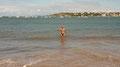 Beim Schwimmen im Atlantik ...