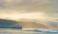 「マリブ桟橋の日の出」 SOLD
