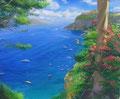 「地中海のリゾート」 SOLD