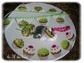 Candy Bar - Fanions et autres accessoires couleur vert anis - Sept 2012