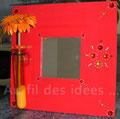 """Miroir """"Fleuri"""" (26 x 26) - Création mars 2007"""