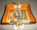 "Vide poche ""Les 3 chatons"" (20 x 20 H4) - Création mars 2010"