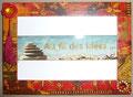 """Petit cadre photo """"L'Inde & ses couleurs"""" (10 x 15 cm) - Création février 2010"""