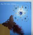 "Détail - Miroir ""Papillons"" (26 x 26) - Création mars 2010"
