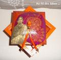 """Boîte à bijoux """"L'Inde & ses couleurs"""" fond résine - Création Octobre/Novembre 2010"""
