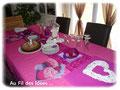 """Déco table pour anniversaire """"F comme Fille !"""" - Septembre 2011"""