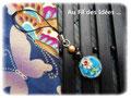 """Bijou de portable """"Esprit Japonais"""" bleu intense - Création Juillet 2011"""