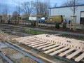 Montage eines Holzdecks