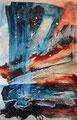 Zeezicht 2020, acryl op papier, 21,5x34cm, prijs 100,00e