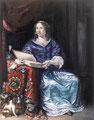 Kopie van 17de eeuw schilderij 'Petronella de la Court' naar Jan van Mieris