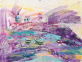 Venetie, acryl en inkt op schildersdoek, 90x120cm, prijs 1700,00e (incl. lijst)