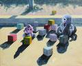 Blokjes 2020, acrylverf op canvas, 40x50cm, prijs 390,00e   (Cov19/06-04-2020/2)