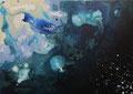 Dieper 2017, acrylverf  en inkt op canvas, 70x50cm, VERKOCHT