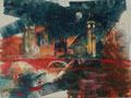 Londen, acryl en inkt op schildersdoek, 90x120cm, prijs 1700,00e (incl. lijst)