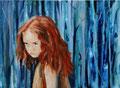 Het meisje, gemengde techniek op linnen, 30x40cm, prijs 450,00e (incl. lijst)