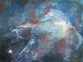 """De nevel 2"" 2017, acrylverf op papier, 60,5x45cm, 100,00e"