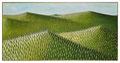 Landschaft mit Zypressen     50 x 100 cm   Acryl/Öl auf Leinwand    2017
