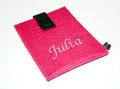 Pinke Handy Tasche mit gesticktem Namen
