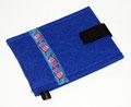 Blaue Handy Tasche mit Eulen Motiv