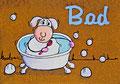 Türschild Schaf beim Badeb