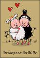 Klappkarte - Brautpaar Beihilfe