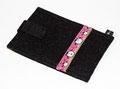 Schwarze Handy Tasche mit Elch Motiv in pink/rosa