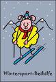 Klappkarte - Wintersport Beihilfe
