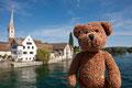 Stein am Rhein liegt in der Schweiz. Und am Rhein.