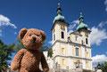 Mal wieder in Donaueschingen vor der Stadtkirche Sankt Johann.