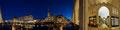 Alsterarkaden mit Rathaus panorama