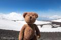 Hier bin ich auf dem Ätna auf Sizilien. Dort ist die Luft ganz schön dünn auf 3000 Metern Höhe. Aber nur, wenn der Vulkan gerade nicht ausgebrochen ist.