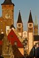 Würzburg: Blick über die Alte Mainbrücke