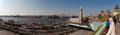 Hamburg-Marathon an den Landungsbrücken (Panorama)