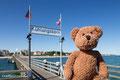 Einmal dürft ihr raten, wo ich hier bin. Kleiner Tipp: Es ist auf der supersuper langen Seebrücke von Kühlungsborn.