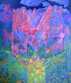 M come montagna | olio su tela | 70x80 cm