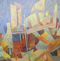 Composizione improbabile | olio su tela | 50x50 cm