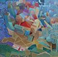 Piazzetta | olio su tela | 50x50 cm