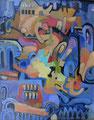 La città rotonda | olio su tela | 15x20 cm