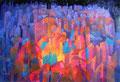 Festa in piazza | olio su tela | 30x45 cm