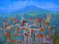 Villaggio turistico | olio su tela | 45x60 cm