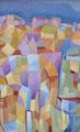 Tante case tanti colori | olio su tela | 20x32 cm