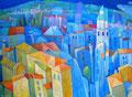 La presentazione del palazzo | olio su tela | 20x30 cm