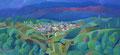 La montagna rosa | olio su tela | 25x30 cm