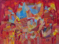 Il quartiere blu | olio su tela | 45x60 cm
