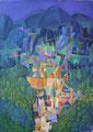 Abbraccio delle montagne | olio su tela | 60x45 cm