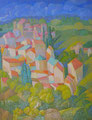 Case in salita | olio su tela | 24,5x19,5 cm