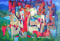 Città verticale | olio su tela | 30x45 cm